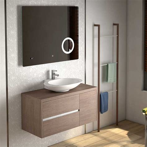 Mueble para Baño Aries con Lavabo Ovalado Sobre Encimera