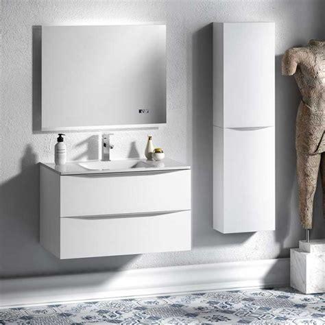Mueble para Baño Landes con Lavabo Encimera de Cristal