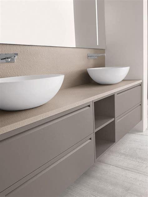 mueble para doble lavabo en apoyo sobre encimera. | Diseño ...