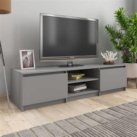 Mueble para TV de aglomerado Gris 140x40x35,5 cm   Compra ...