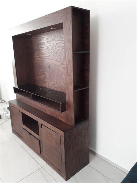 Mueble Para Tv De Madera De Encino Con Cajoneras   $ 7,800 ...