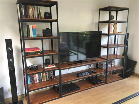Mueble Para Tv Industrial Estantería Metal Madera Vintage ...
