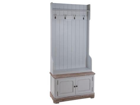 Mueble perchero recibidor con puertas y estante vintage