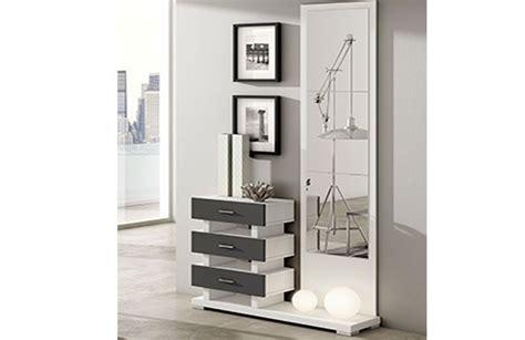 Mueble recibidor moderno con espejo y cajones, ideal la ...
