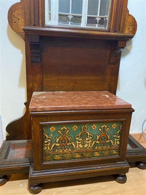 Mueble recibidor perchero antigüedad de segunda mano por ...