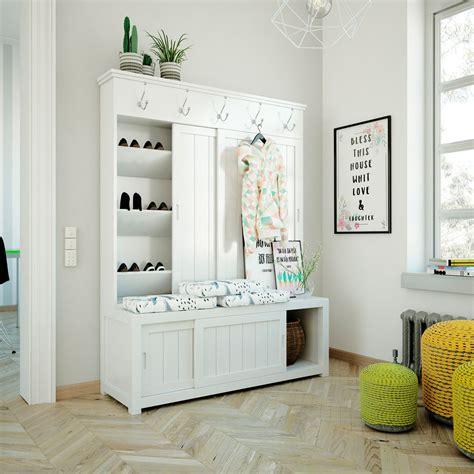 Mueble recibidor vestidor con perchero y zapatero | Mueble ...
