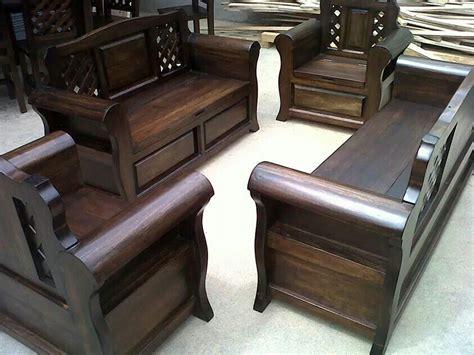 Mueble rustico | Wooden sofa set designs, Wooden sofa ...