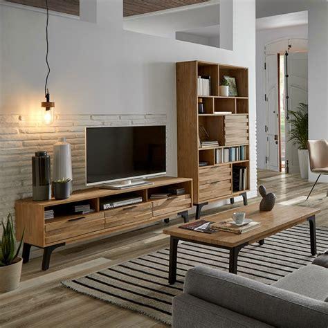 Mueble TV Amsterdam 165cm madera maciza acacia   Erizho