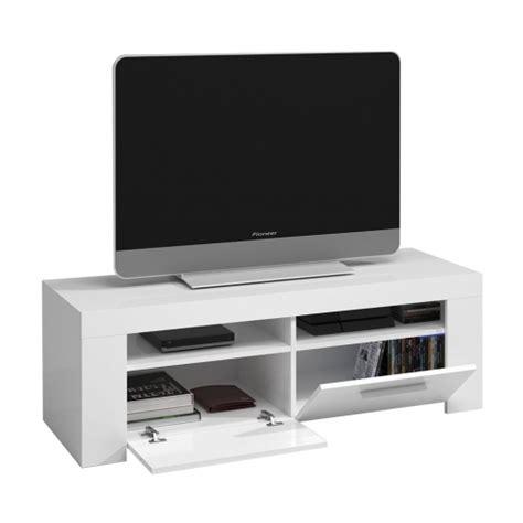 Mueble Tv Blanco Brillo 120 X 40x 42cm   Las mejores ...