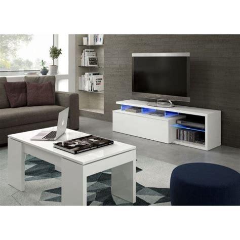 Mueble Tv Blanco Brillo Y Luces Led   Las mejores ofertas ...