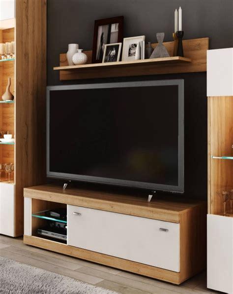 Mueble Tv Con Estante Ada Diseño Moderno Color Blanco Y ...