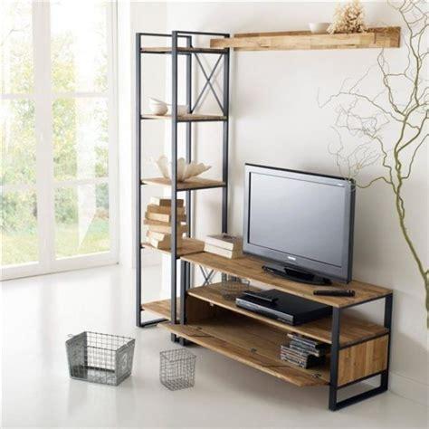 Mueble Tv Diseño Industrial Vajillero Hierro Y Madera ...