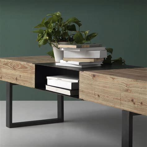 Mueble TV estilo industrial 180x40x45h en madera de abeto ...