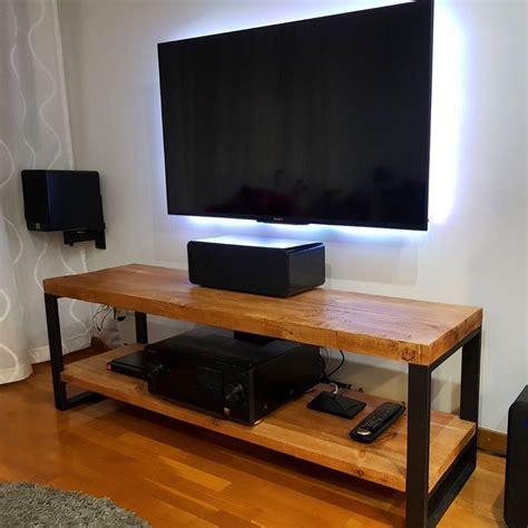Mueble tv estilo industrial en hierro y madera fabricado a ...