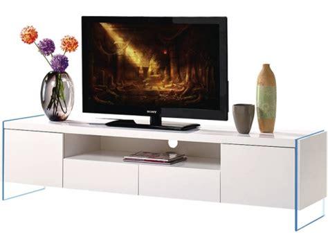Mueble Tv Led  clara    180 X 40 X 45 Cm   Blanco Lacado ...