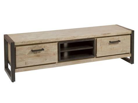 Mueble TV macizo madera de acacia y hierro estilo industrial
