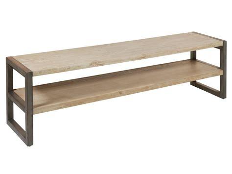 Mueble TV madera de acacia y hierro 175 cm estilo ...