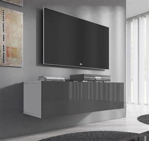 Mueble Tv Modelo Forli M  100 Cm  En Color Blanco Y Gris ...
