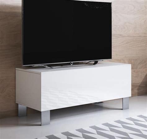 Mueble Tv Modelo Luke H1  100x42cm  Color Blanco Con Patas ...