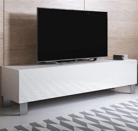 Mueble Tv Modelo Luke H2  160x42cm  Color Blanco Con Patas ...