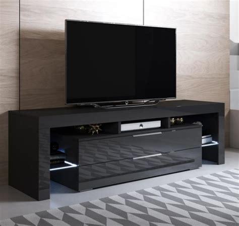 Mueble Tv Modelo Selma  160x53cm  Color Negro Con Led Rgb ...