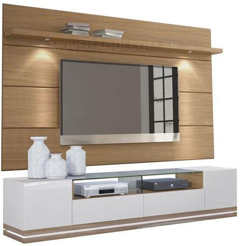 Mueble Tv Moderno Con Panel Blanco Y Madera Ref: Livo 4.0 ...