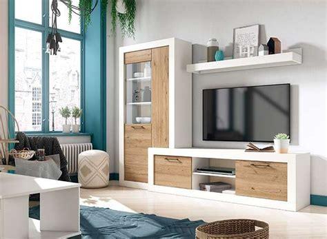 Mueble TV Nórdico Blanco y Madera   Muebles Salón   Hipopótamo