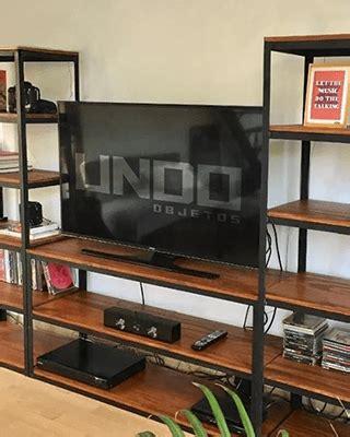 Mueble Tv Rack Estantes Biblioteca Industrial Hierro ...