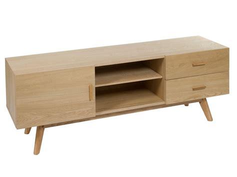 Mueble TV roble color natural con patas altas   Venta online