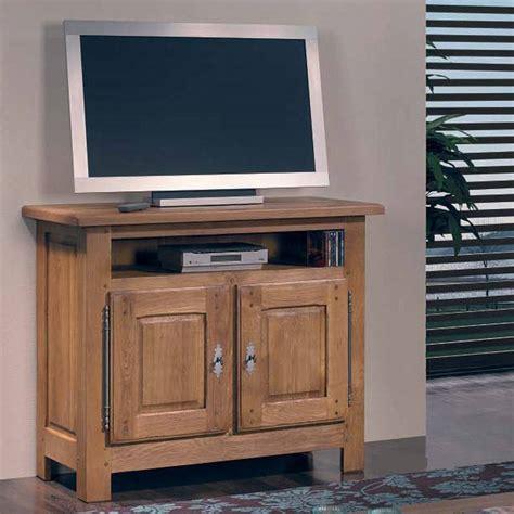 mueble tv rústico de roble macizo de dos puertas