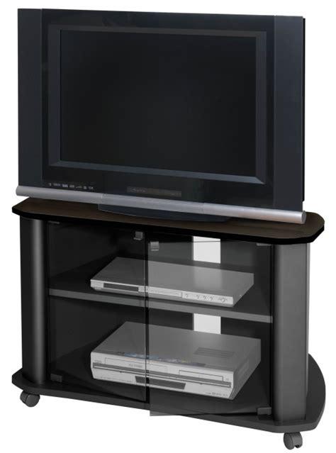 Mueble Tv Salón Negra Televisor Puertas Cristal Mesa Tele ...