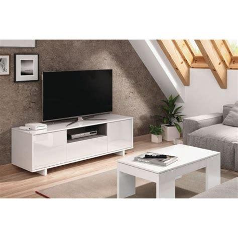 Mueble Zaida Comedor Tv Moderno Color Blanco Brillo Y ...