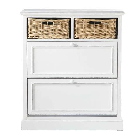 Mueble zapatero blanco An. 80 cm Cottage | Maisons du Monde
