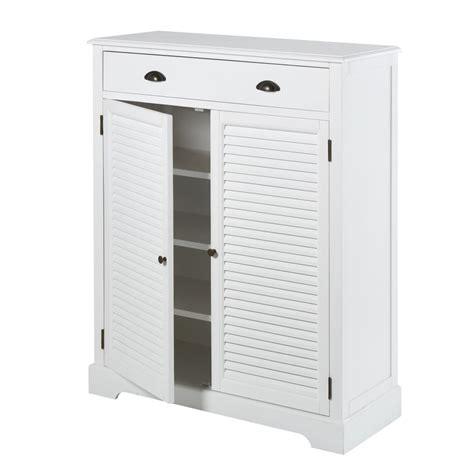 Mueble zapatero con 2 puertas y 1 cajón blanco Barbade ...