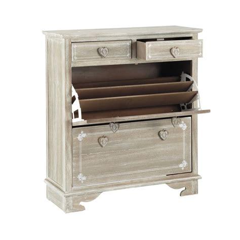 Mueble zapatero de madera de paulonia An. 90 cm Camille ...