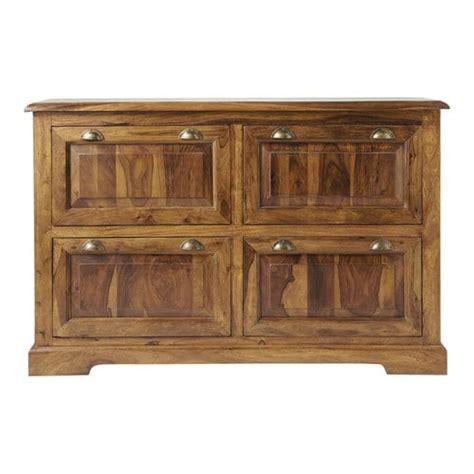 Mueble zapatero de madera maciza de palo rosa An. 140 cm ...