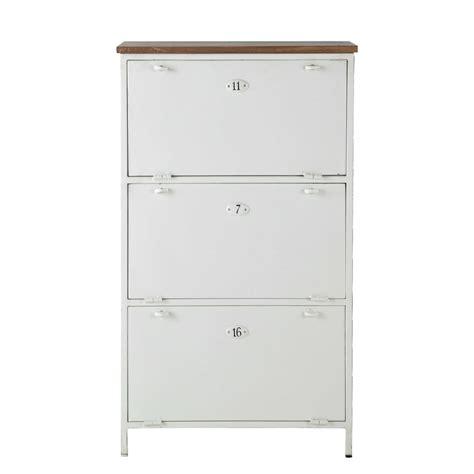 Mueble zapatero de metal y mango blanco An. 72 cm Copernic ...