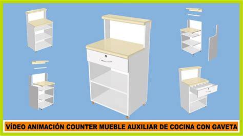 Muebles de cocina/Vídeo Animación Counter Mueble auxiliar ...