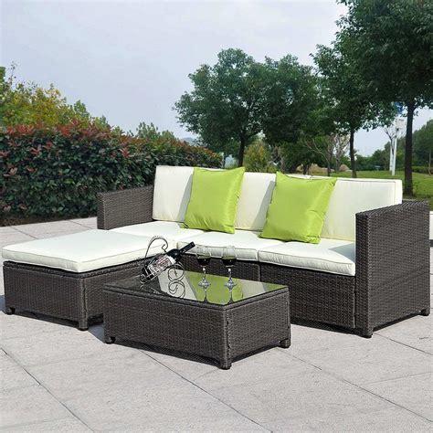 Muebles De Ratan Para Jardin Set   $ 15,645.00 en Mercado ...