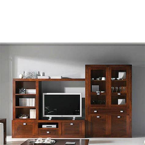 Muebles de salon con vitrina y mueble tv   nogal en 2020 ...