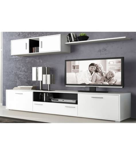 Muebles De Salon Modernos Y Baratos En Color Blancografito ...