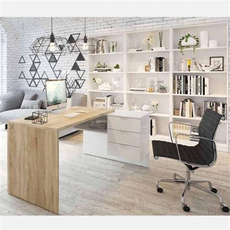 Muebles Despacho Modernos Blanco Artik  mate  y Roble ...