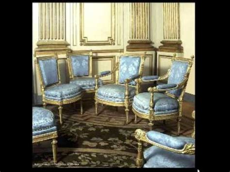 Muebles estilo Luis XVI 5ª parte sillerias   YouTube