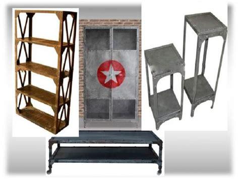 Muebles estilo vintage e industrial de diseño o ...