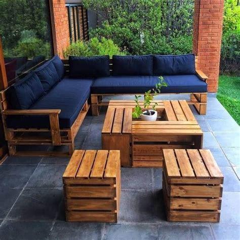 Muebles exterior jardin de madera recuperada   Casa Web