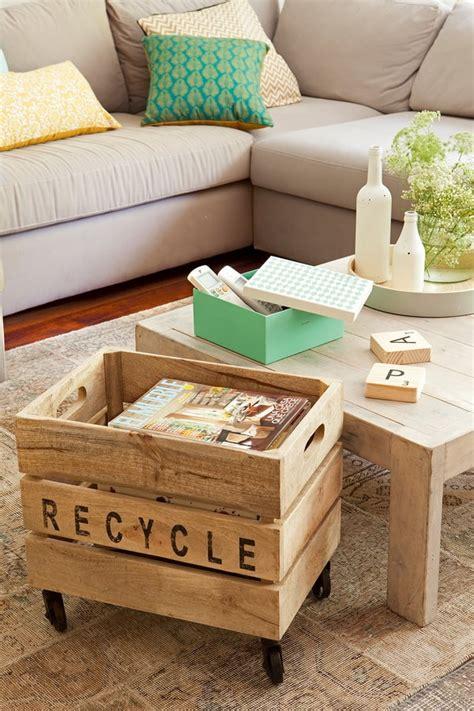 Muebles hechos con cajas de madera. Muebles DIY.DecoraTrucos