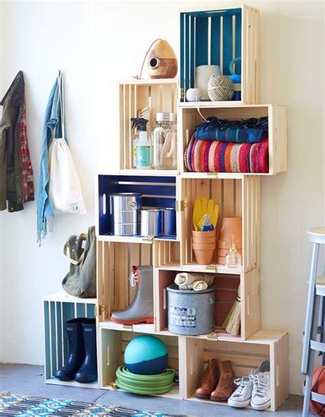 Muebles hechos con cajas de madera. Muebles DIY.