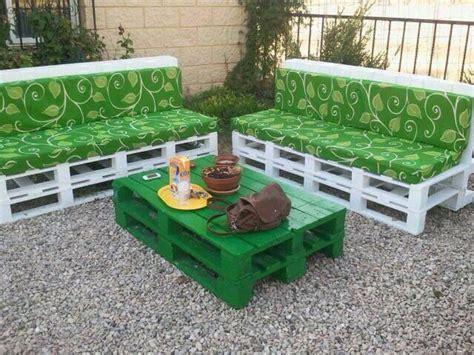 Muebles para el jardín, hecho de palets   Muebles con ...