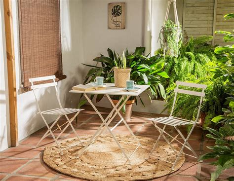 Muebles pequeños para terrazas y balcones mini de Leroy Merlin
