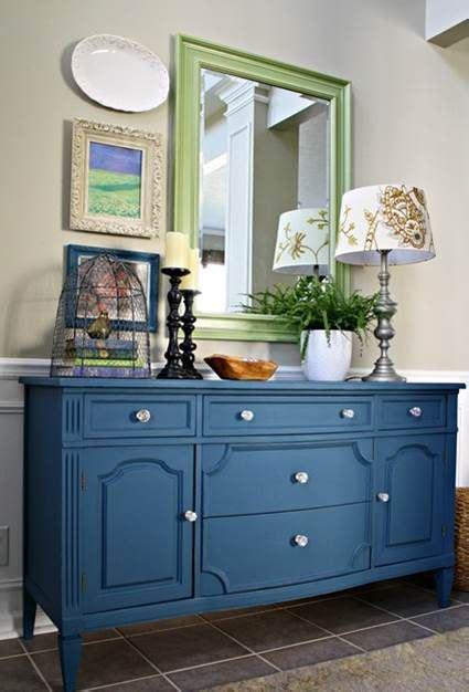 Muebles pintados con colores | Muebles pintados de azul ...